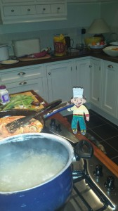 Stanley is a fantastic cook. He cooked a lovely dinner