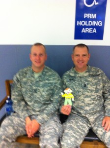 Stanley met two American soldiers in Shannon Airport. The soldiers were on their way to Kuwait. Stanley was waiting for a flight to Boston.